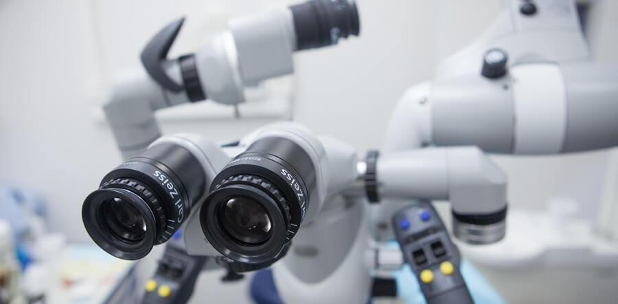 Лечение корневых каналов, микроскоп Carl ZEISS